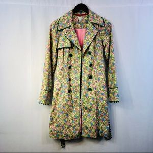 Anthropologie Jackets & Coats - Anthropologie odille floral belted trench coat sz2